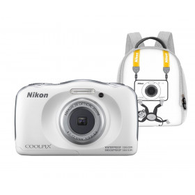 Nikon Coolpix W100 Blanca Kit Familia Cámara Sumergible 13.2mp + Mochila