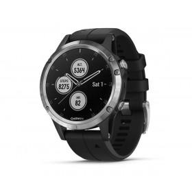 Garmin Fénix 5 Plus Plata Con Correa Negra 47mm Smartwatch Premium Multideporte Gps Integrado Wifi Bluetooth